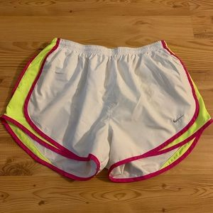 White & Pink  Nike Dri-Fit Shorts